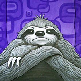 Jeffrey and Sloth book illustration