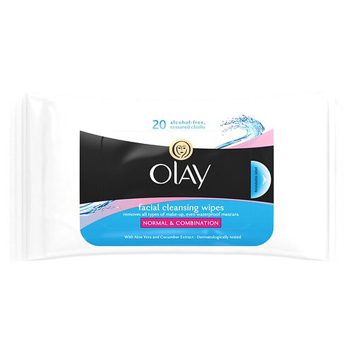 Olay Facial Cleansing Wipes Resealable Pouch 20 Wipes