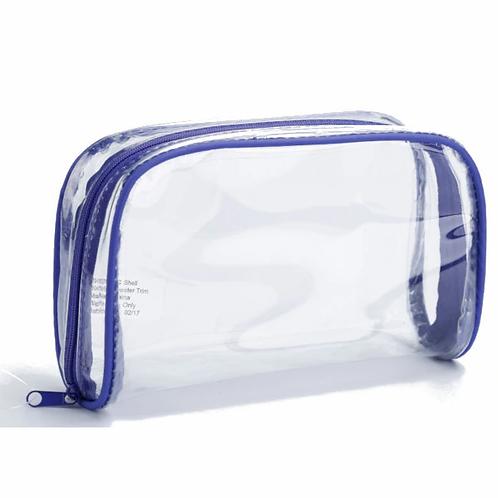 Beauty Essentials Clear Rectangular PVC Case