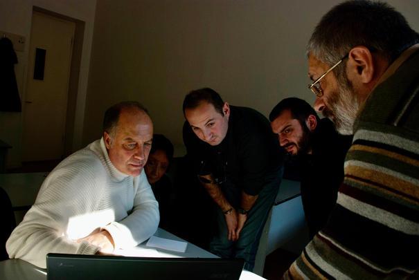 Trabajando con Zurab Tskrialashvili, Levan Veshapidze, Zaal Tsereteli y Rusudan Tsurtsumia