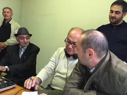 Trabajo de campo en Kakheti