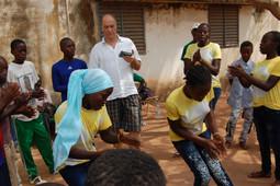 Grabando a jóvenes en Kédougou