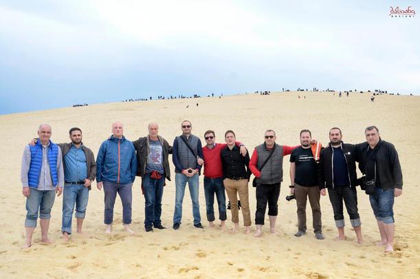 Con el Ensemble Basiani en la duna de Arcachon, Francia