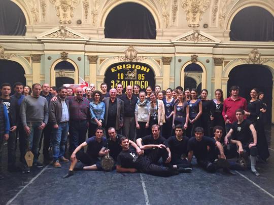 Con el grupo de danza Erisioni