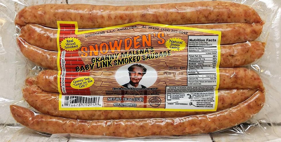 Snowden's Granny Malena's Baby Link Smoked Sausage - 1 lb.