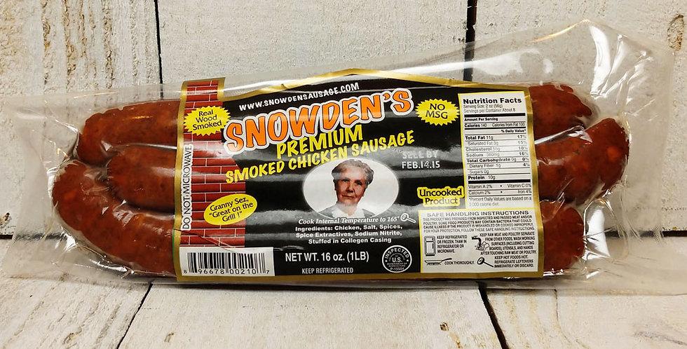 Snowden's Premium Smoked Chicken Sausage - 1 lb.