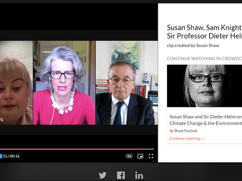 Susan Shaw & Sir Dieter Helm in Conversation with Samantha Knights, QC - Shute Festival