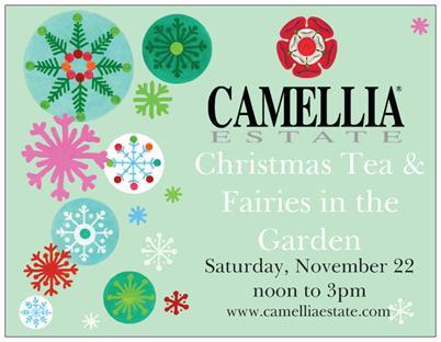 Camellia Estate Christmas Gypsy Garden Tea Tasting