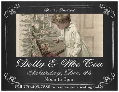 Camellia Estate & ONE OF A KIND Dolly & Me Christmas TEA