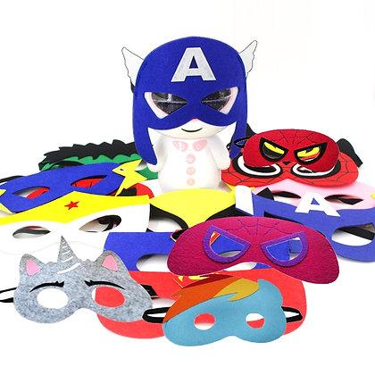 2019 Superhero Cosplay Masks Halloween Party Dress Up Costume Mask Kids Adult
