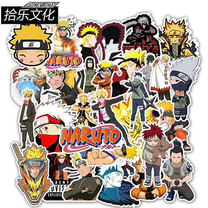 50 PCS/lot Anime Naruto Cartoon Decal Sticker for Laptop Skateboard