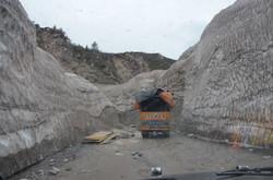 road to badrinath - ice