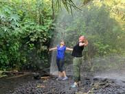 מקלחת צוננת ביום קיץ חם ברמת הגולן