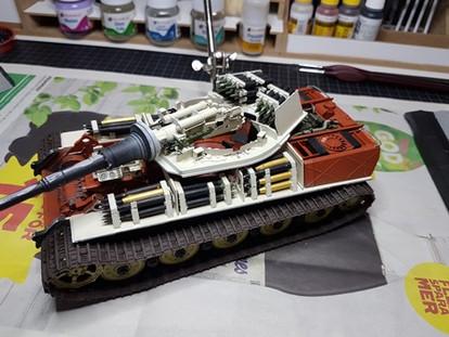 En pansarvagn.