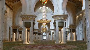 Dans la Grande Mosquée d'Abu Dabi
