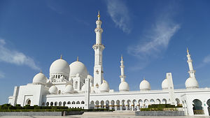 La grande mosquée d'Abu Dabi