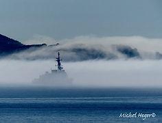 Brume de mer à Carqueiranne