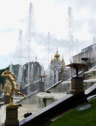 Jets d'eau à Petrodvorets (Russie)