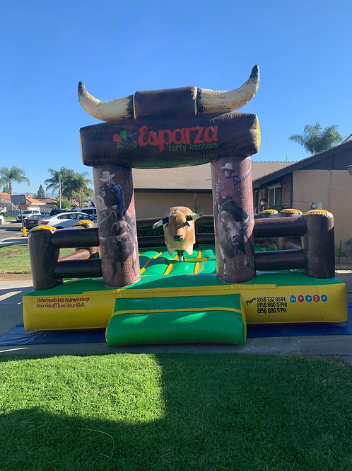 Mechanical Bull Package Deal - 5-6ft tables & 40 white folding chairs