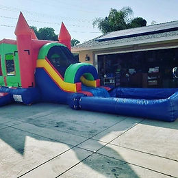 11'x25' Bouncer with Waterslide - Multicolor
