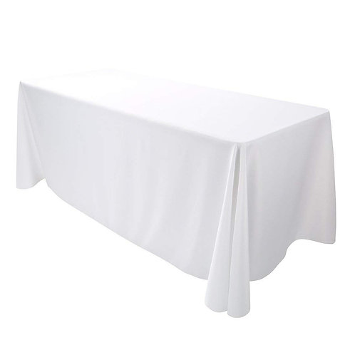 6ft Rectangle Tablecloths (White) FullDrop
