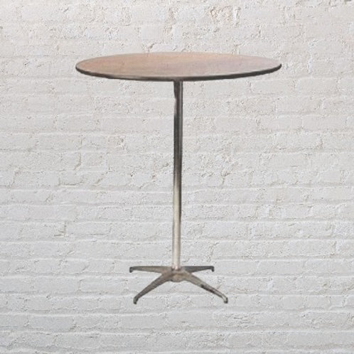 """36"""" round cocktails tables - wood"""
