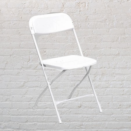 Basic White Folding Chairs