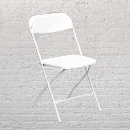 Basic White Folding Chairs