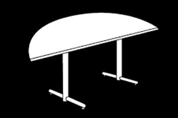"""60"""" Half Moon wood Table"""