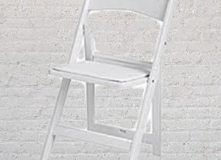 Resin Padded Chairs - White
