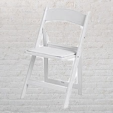 White Resin Padded Chairs