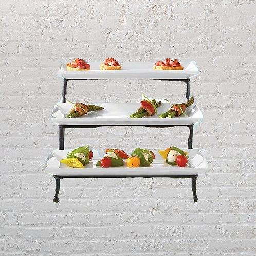 3 tier sweet / fruit holder -White