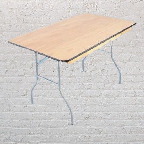 4ft Rectangular tables - Wood