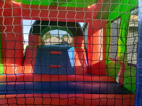 11'x25' Bounce House with Waterslides - Multicolor