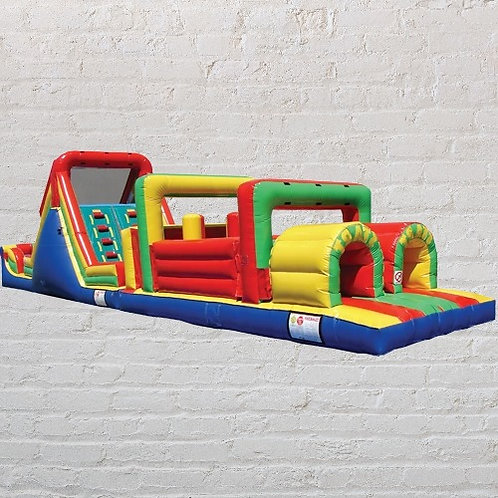 13'x52' Obstacle course with slide -Multicolor (Dry)Promotion end 10/15/2020