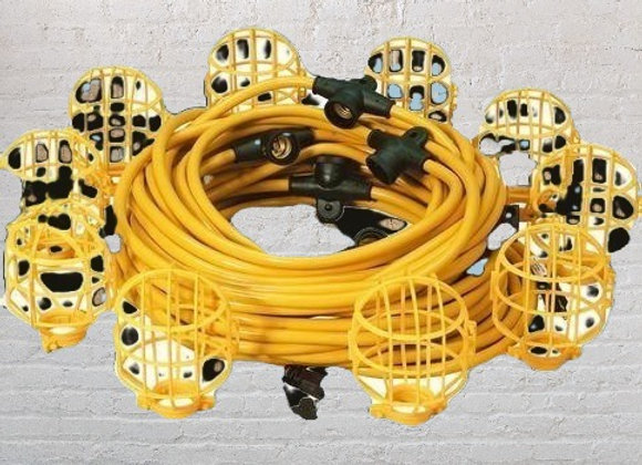 50ft Yellow Construction lights
