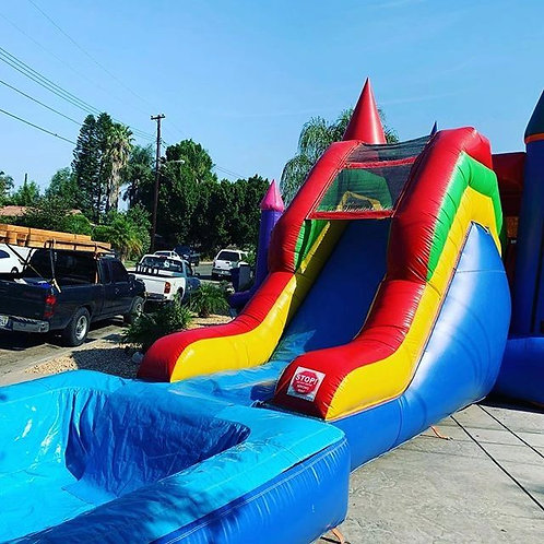 13'x30 Bounce House with Slide - Multicolor