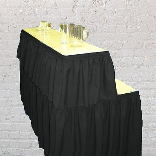 6ft Rectangular Bar Table with skirting (Black, Ivory or white)