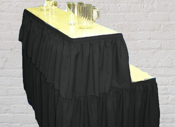 6ft Rectangular Bar Table with skirting (Black, Ivory or white)