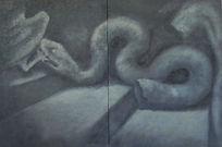 Ara di Pergamo, olio su tela, 60xx90