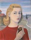 Autoritratto con il libro, 1955, cm 50 x