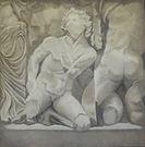 Ara di Pergamo, olio su tela, 100x100.