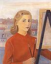 Autoritratto al cavalletto , 1955, olio