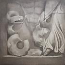 Altare di Pergamo n 4, 2002, olio su tel