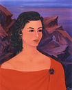 Ritratto in rosso, 1956, olio su tela, c