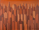 Megalopoli, 1979, olio su tela, cm 46,8