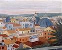 Paesaggio dal Pincio, 1955, olio su tela