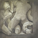 Ara di Pergamo,olio su tela, 100x100 j