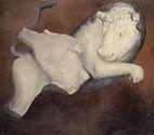 Ercole e il toro, 2008, olio su tela, cm