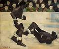 Boxeurs, 1963, olio su tela, cm90,4 x 70